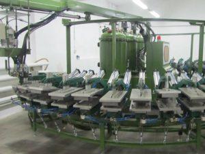 PU د خوندیتوب جوړوونکي ماشین د DIP جوتا کیلې ډول تولید لیک