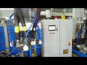 دری برخی پولیوریتین الاسستروم د ماشین کولو ماشین / Pu elastomer pouring machine / cpu د ماشین کولو ماشین